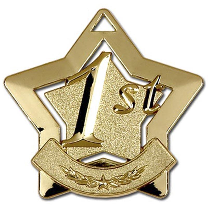1st Place Gold Star Shaped Badge