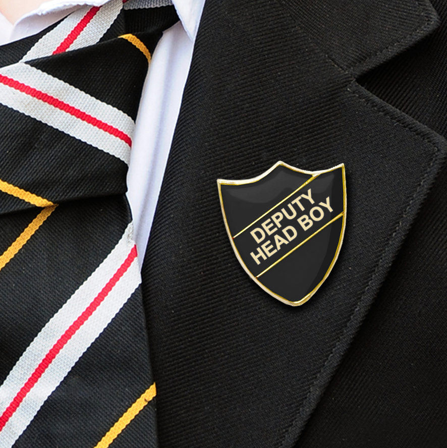 Deputy Head Boy School Badges black