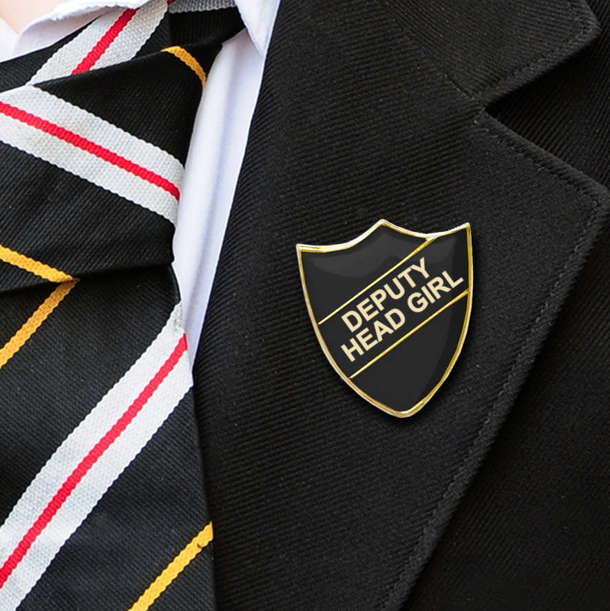 DEPUTY HEAD GIRL School badges black
