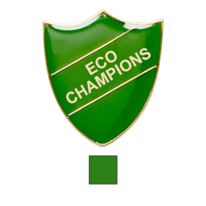 Green Shield Shaped Eco Champions Badge