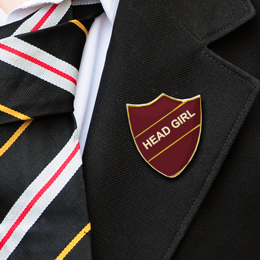 HEAD girl school badge maroon