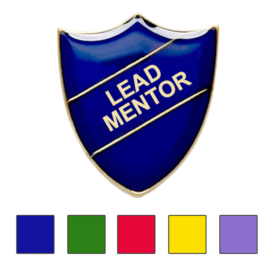 Lead Mentor school badges shield