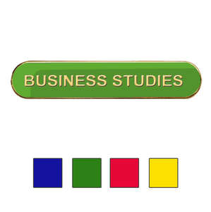 Coloured Bar Shaped Business Studies Badges