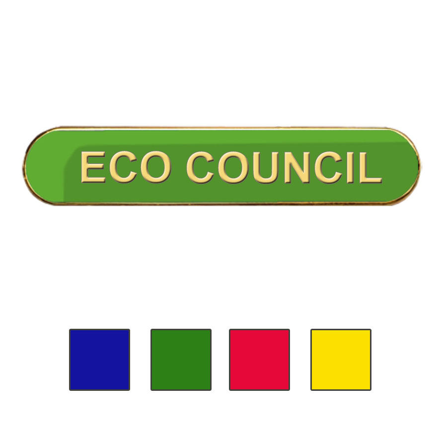 Coloured Bar Shaped Eco Council Badges