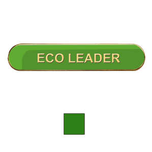 Green Bar Shaped Eco Leader Badge