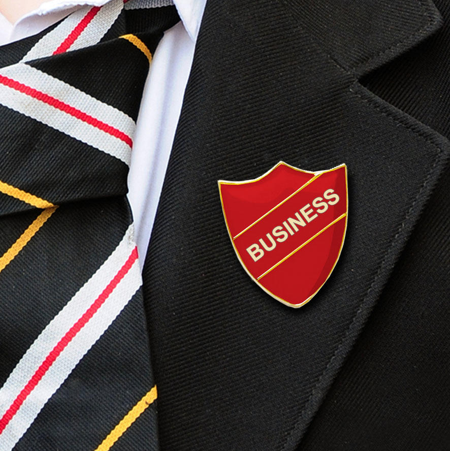 Red Shield Shaped Business Badge