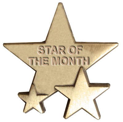 Triple Star Badge - STAR OF THE MONTH