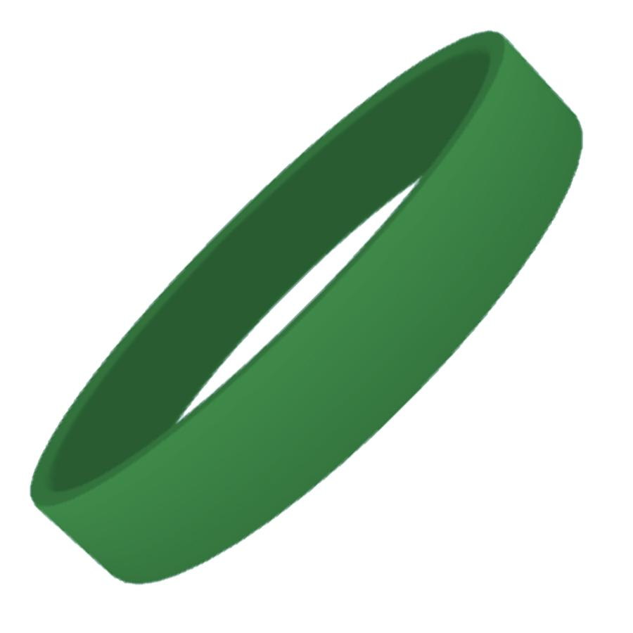 Green Plain Silicon Wristband