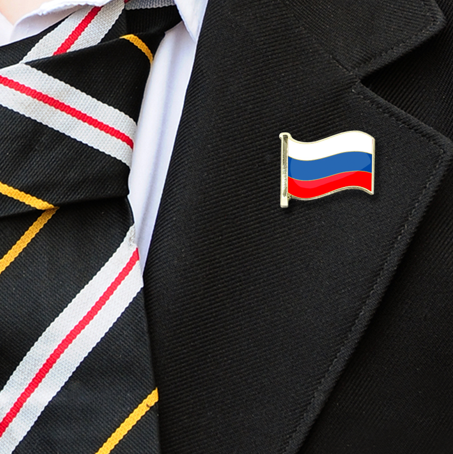 Russia Flag Badge on Lapelle