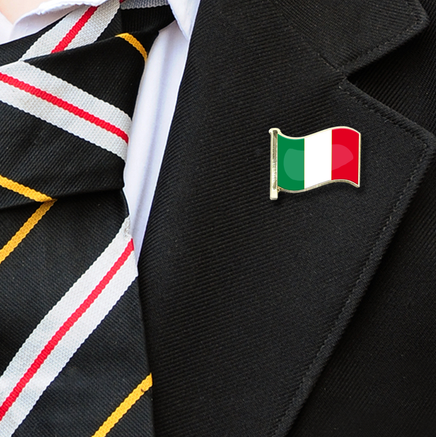Italy Flag Badge on Lapelle