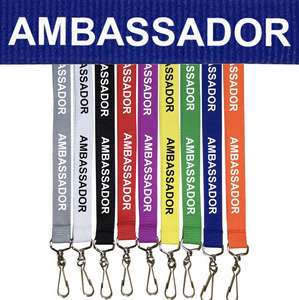 Coloured Ambassador Lanyards