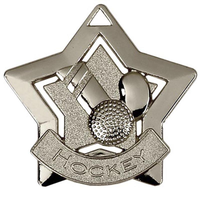 Silver Hockey Star Badge