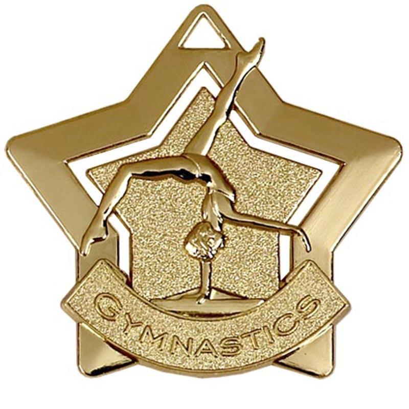 Gold Gymnastics Star Badge
