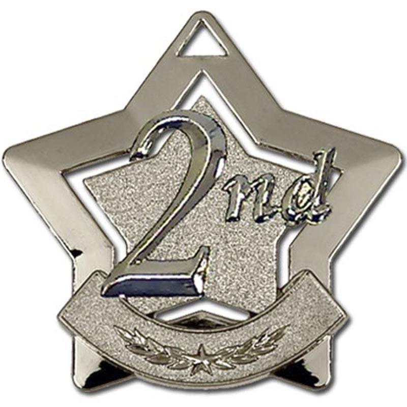 2nd Place Silver Star Shaped Badge