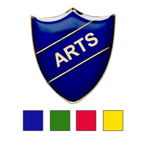 Arts shield school badge