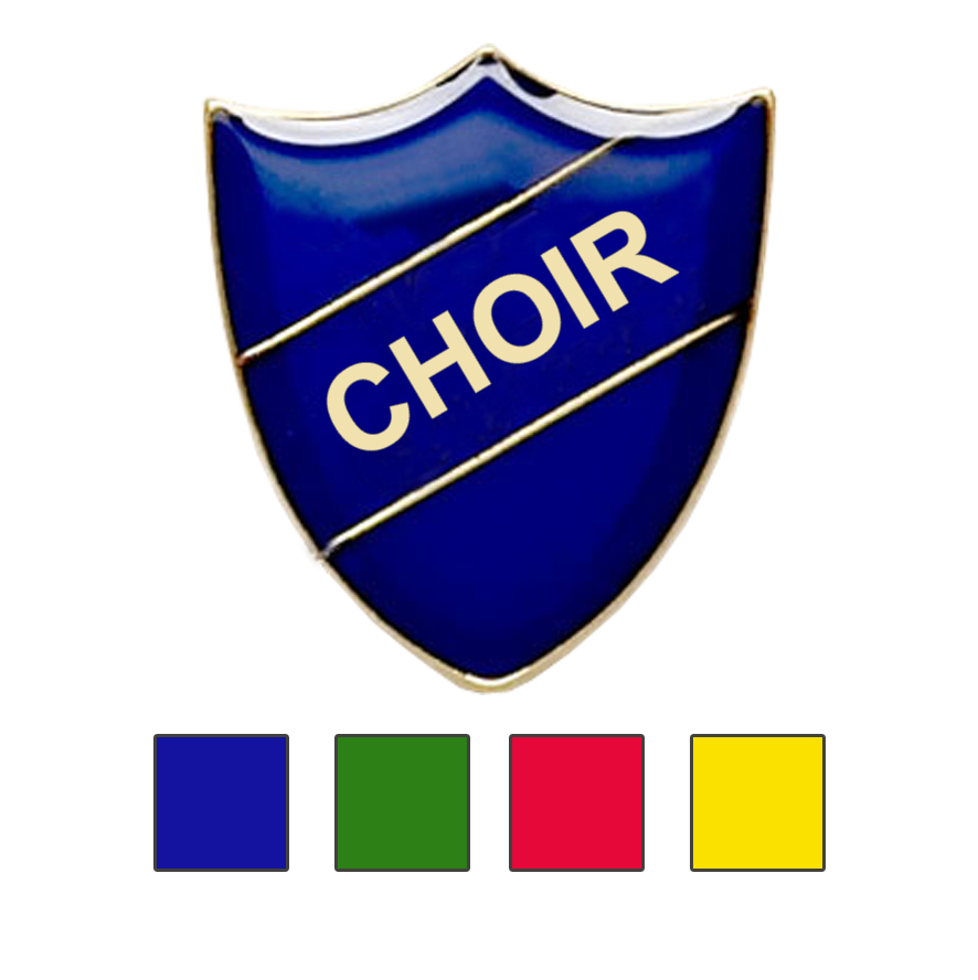 CHOIR SHIELD SCHOOL BADGES