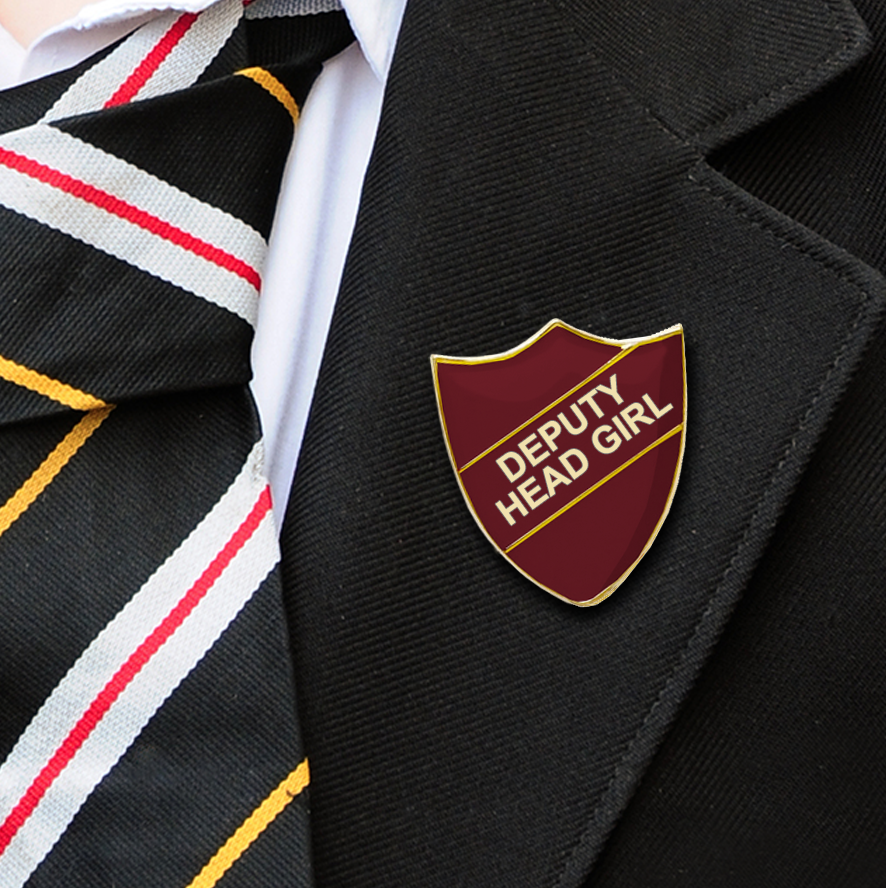 DEPUTY HEAD GIRL School badges maroon