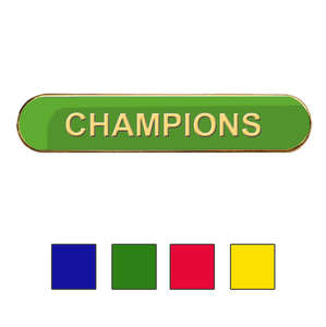 Coloured Bar Shaped Champions Badges