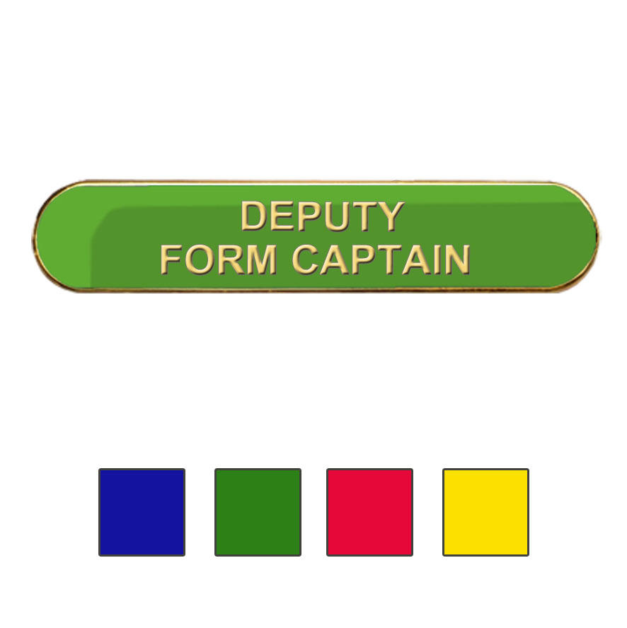 Coloured Bar Shaped Deputy Form Captain Badges