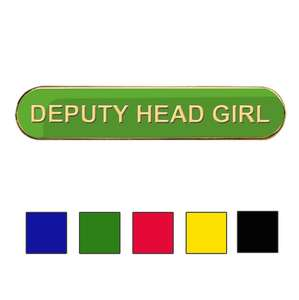 Coloured Bar Shaped Deputy Head Girl Badges