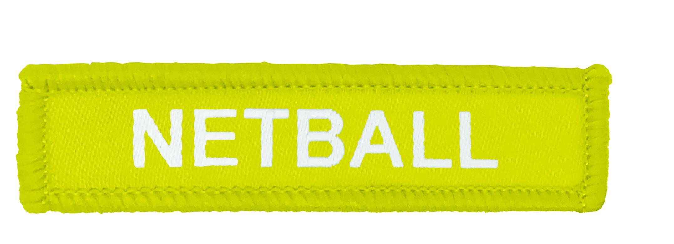 Yellow Woven Netball Badge