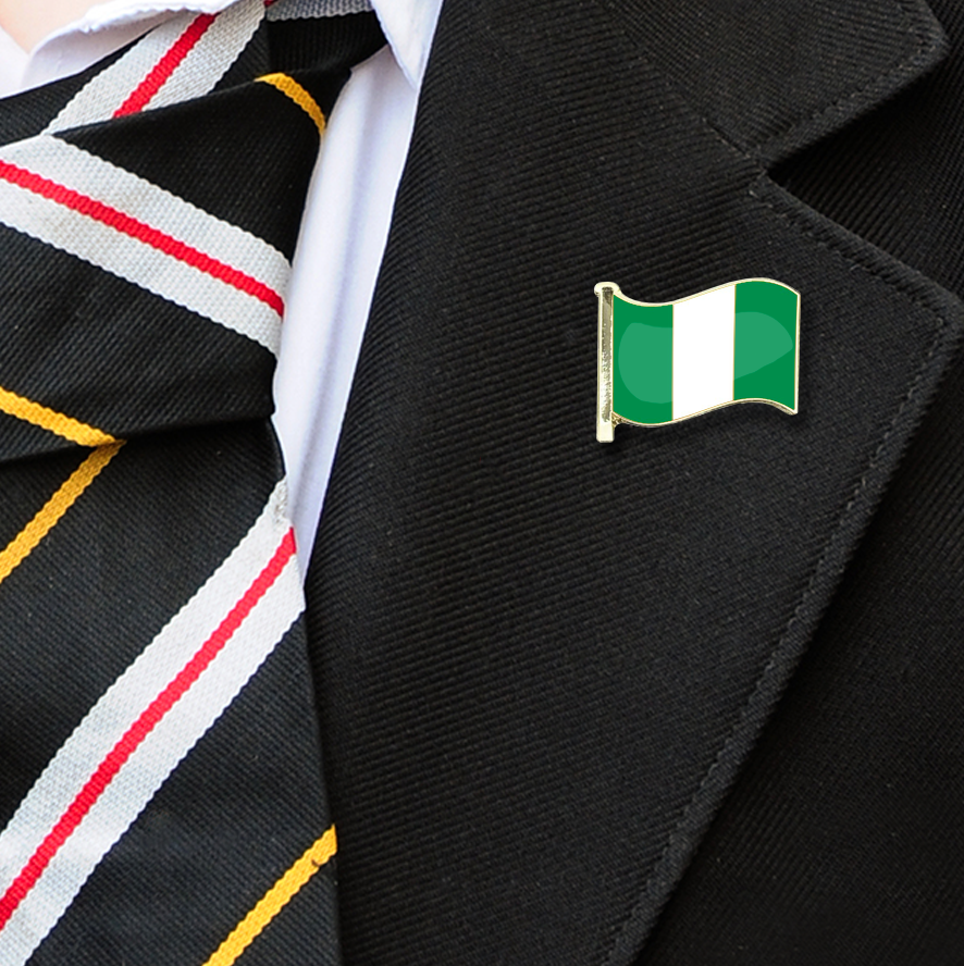 Nigeria Flag Badge on Lapelle