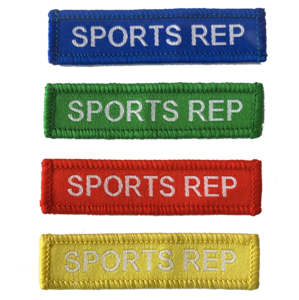 Sports Rep Woven Patches