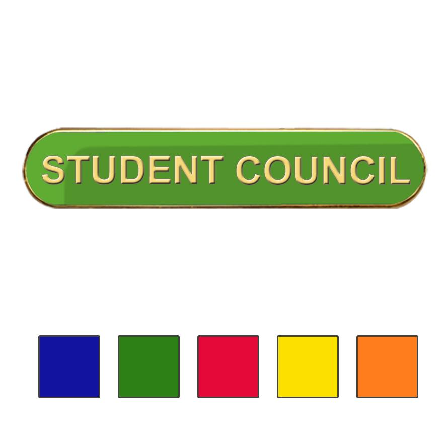 Coloured Bar Shaped Student Council Badges
