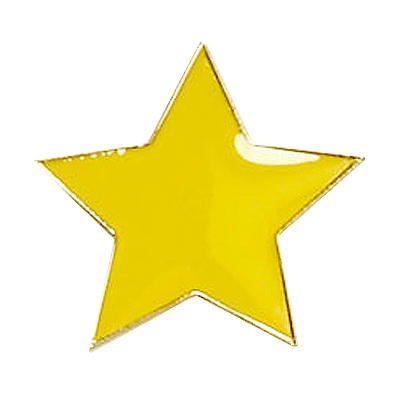 Star Badge Yellow
