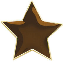 Star Badge Brown