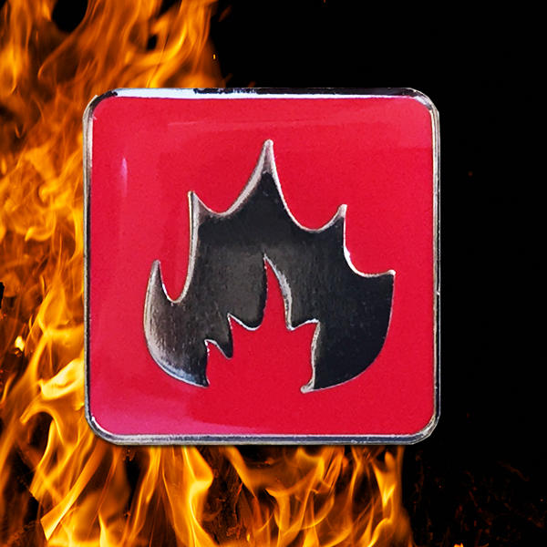 Red Fire Elements Badge
