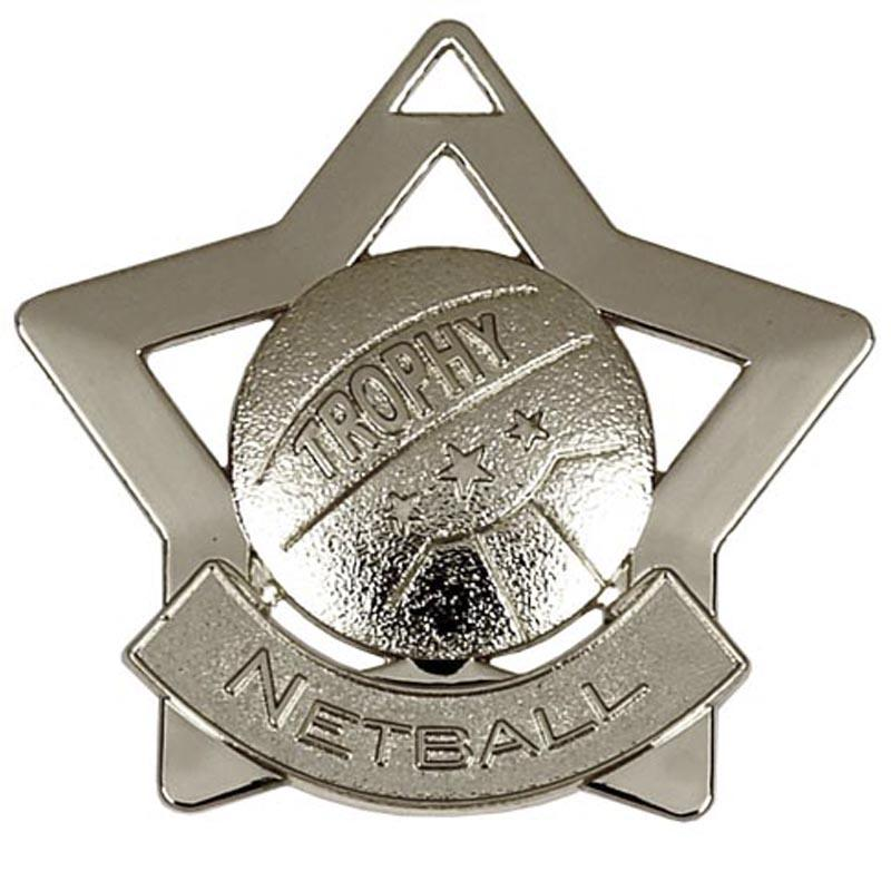 Silver Netball Star Badge