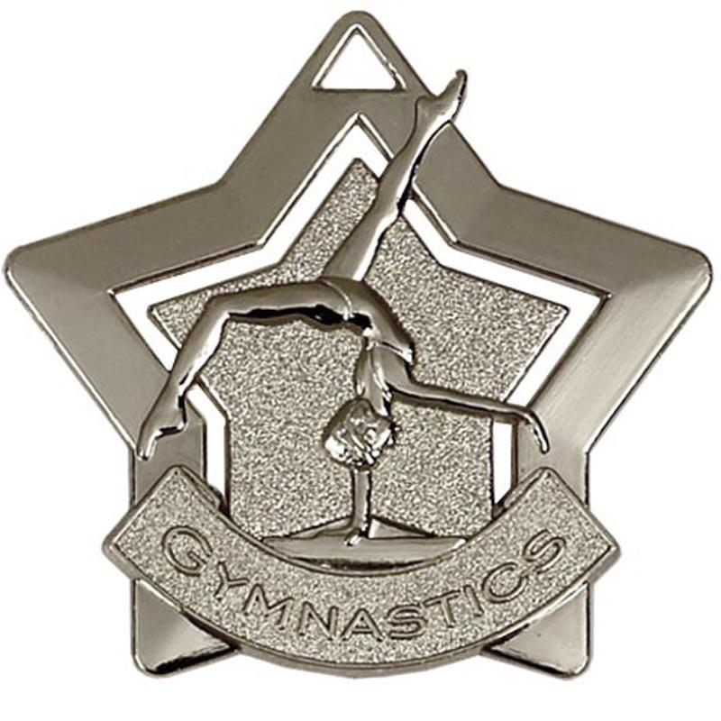 Silver Gymnastics Star Badge