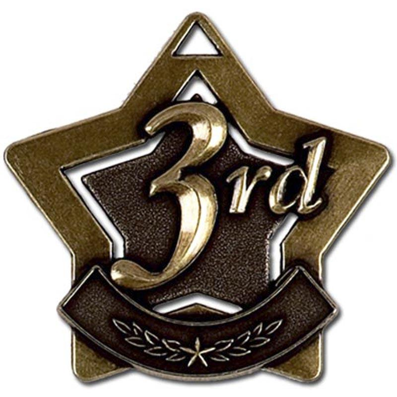 3rd Place Bronze Star Shaped Badge