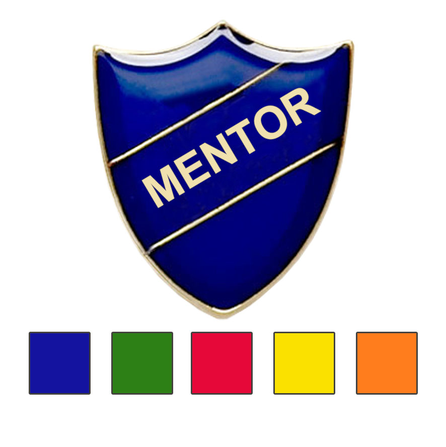 MENTOR SHIELD SCHOOL BADGE