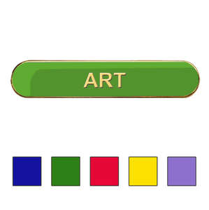 Coloured Bar Shaped Art Badge