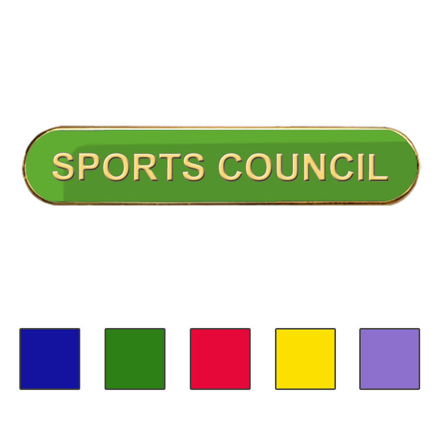 Coloured Bar Shaped Sports Council Badges