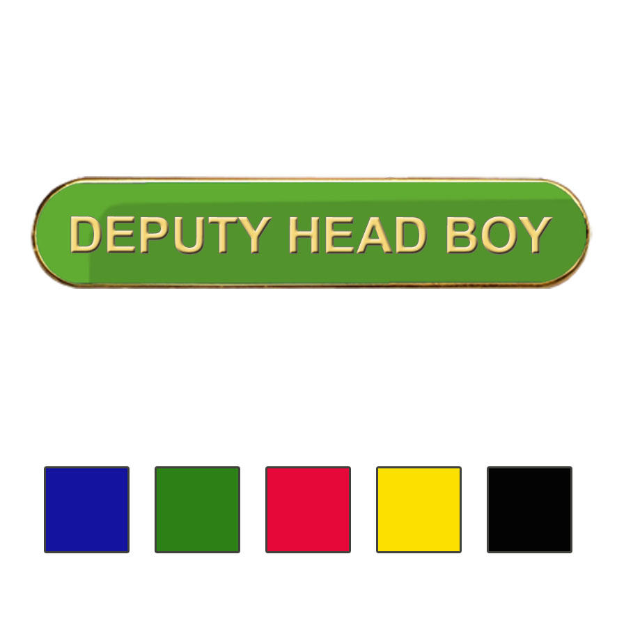 Coloured Bar Shaped Deputy Head Boy Badges