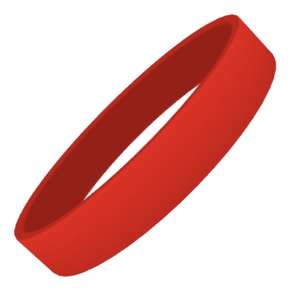Red Plain Silicon Wristband