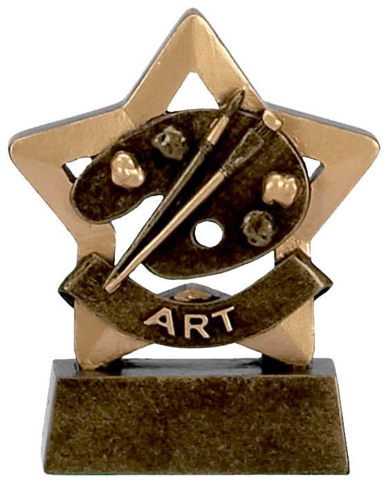 Art Paint Palette Mini Star Trophy Badge