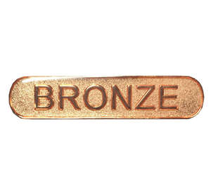Bronze Text Bar Badge