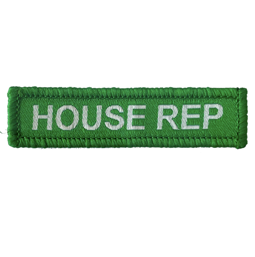 House Rep Woven Patches green