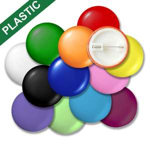 Plastic Button Badges