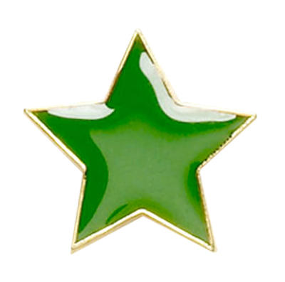 Star Badge Green