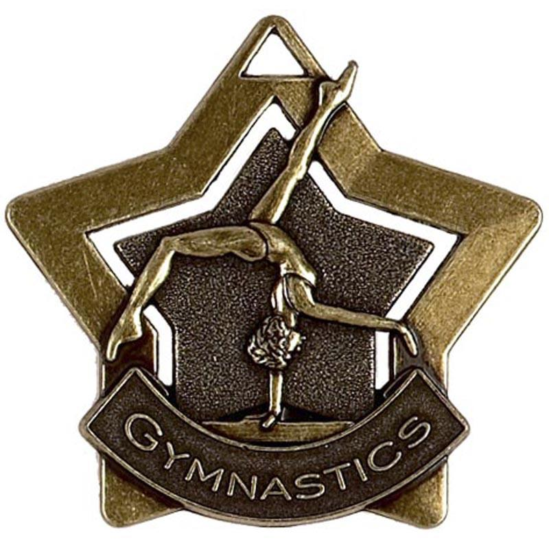 Bronze Gymnastics Star Badge