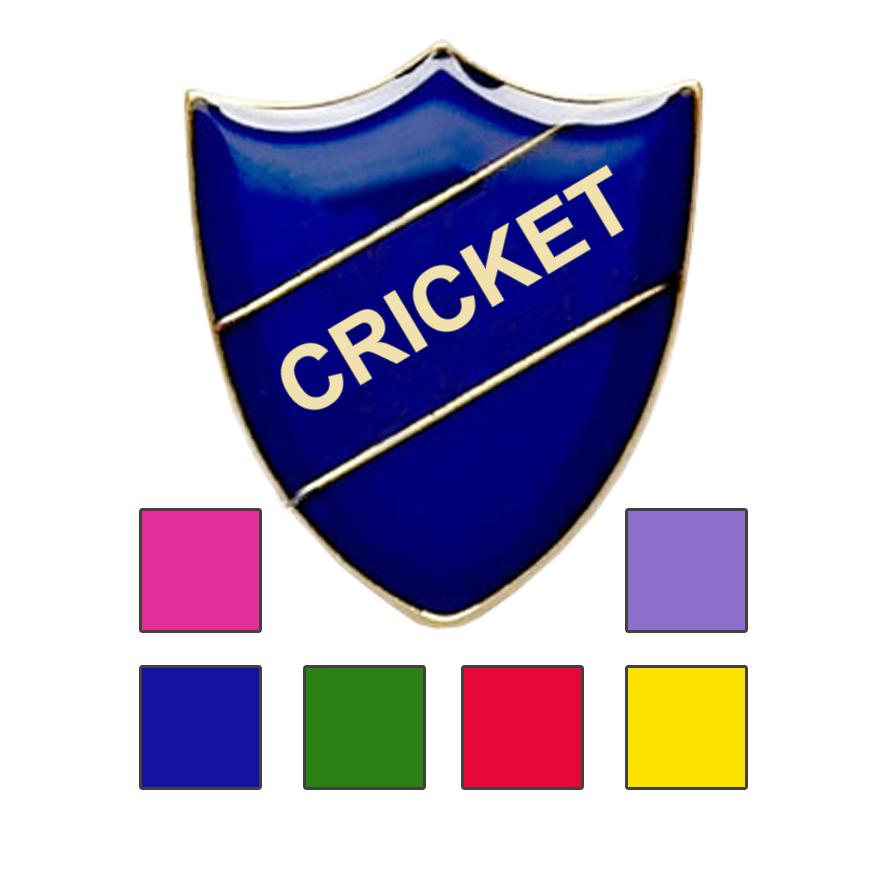 Cricket School Badges shield