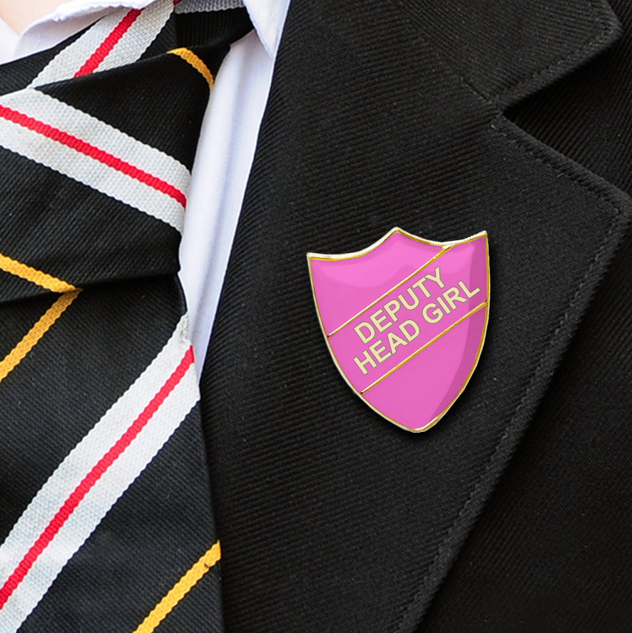 DEPUTY HEAD GIRL School badges pink