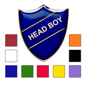 Head Boy school badge shield