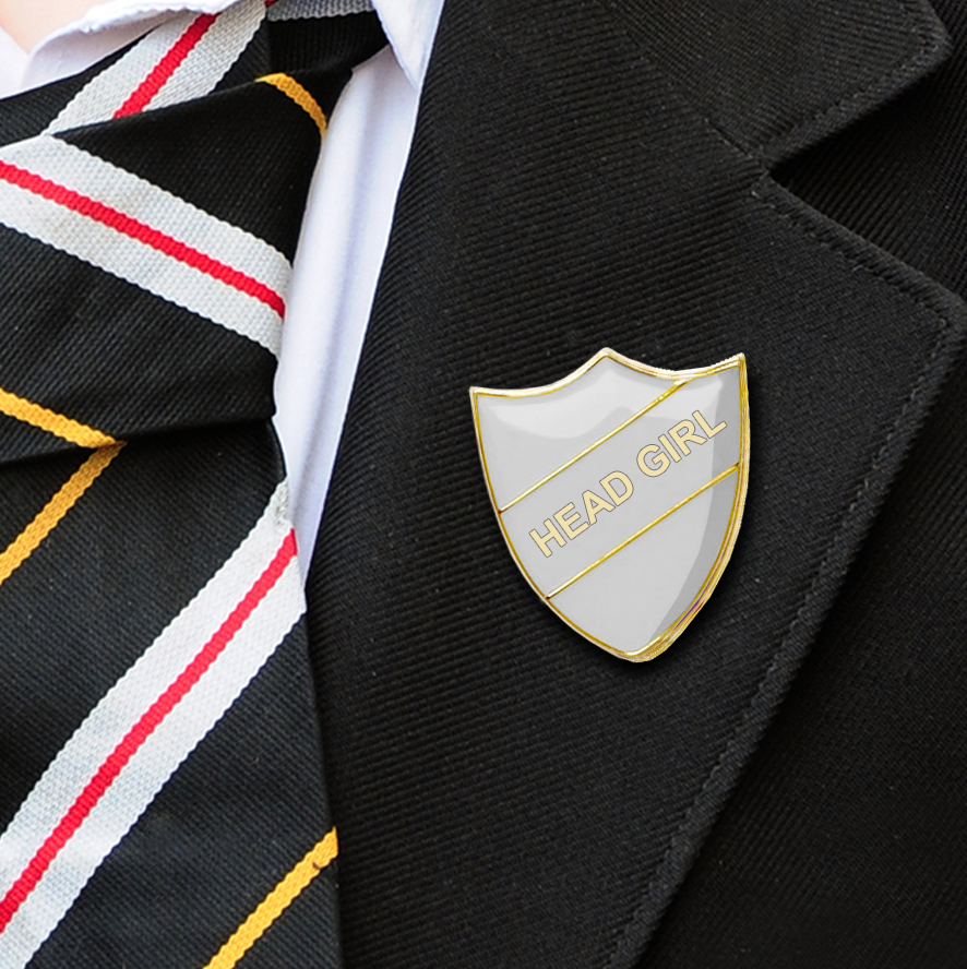 HEAD girl school badge white