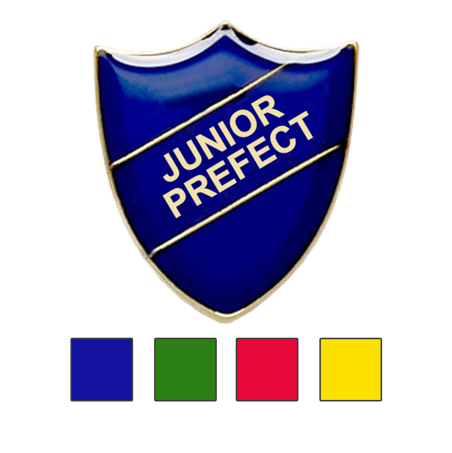 Junior Prefect school badges shield